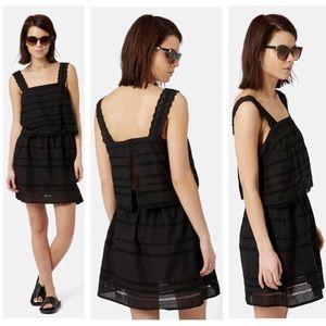 Black Lace Trim Overlay Sundress